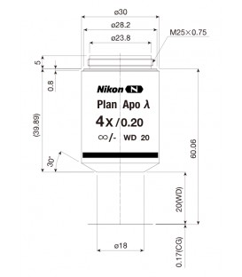 Nikon CFI Plan Apo Lambda 4x