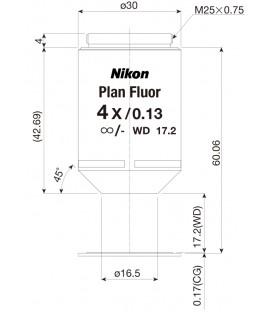 Nikon CFI Plan Fluor 4x