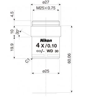 Nikon CFI Achro 4x
