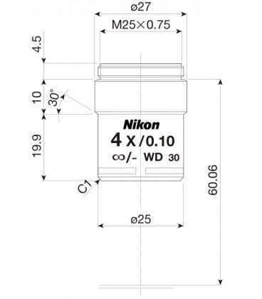 Nikon CFI Achro 4x POL