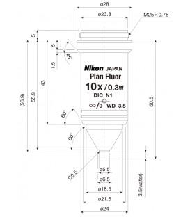 Nikon CFI Plan Fluor 10XW