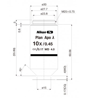Nikon CFI Plan Apo Lambda 10x