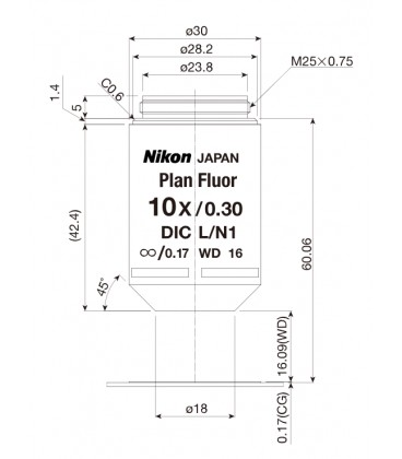 Nikon CFI Plan Fluor 10x PH