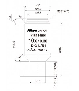 Nikon CFI Plan Fluor 10x