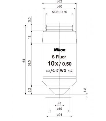 Nikon CFI Plan Super Fluor 10x