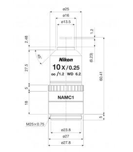 Nikon CFI Achro NAMC 10xF