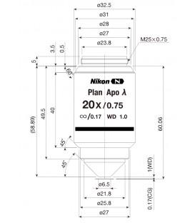 Nikon CFI Plan Apo Lambda 20x