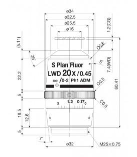 Nikon CFI S Plan FLuor 20x ELWD