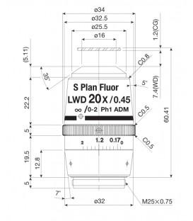 CFI S plan Fluor ELWD ADM 20XC