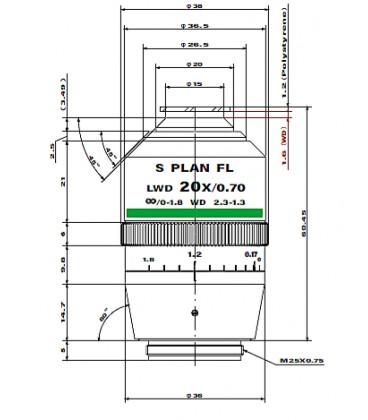 CFI S plan Fluor LWD ADM 20XC