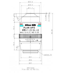 Nikon Lambda S 40XC Sil