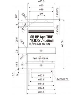 CFI SR HP Apochromat TIRF 100XC Oil
