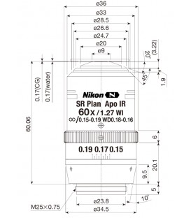 CFI SR Plan Apochromat IR 60XC WI