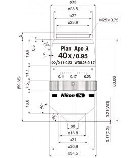 CFI Plan Apochromat Lambda 40XC