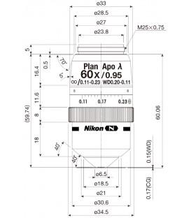 CFI Plan Apochromat Lambda 60XC