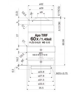 Nikon CFI Apochromat TIRF 60XC Oil