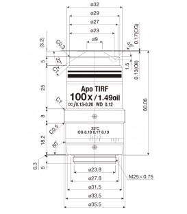 Nikon CFI Apochromat TIRF 100XC Oil