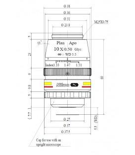 Nikon CFI Plan Apochromat 10XC Glyc